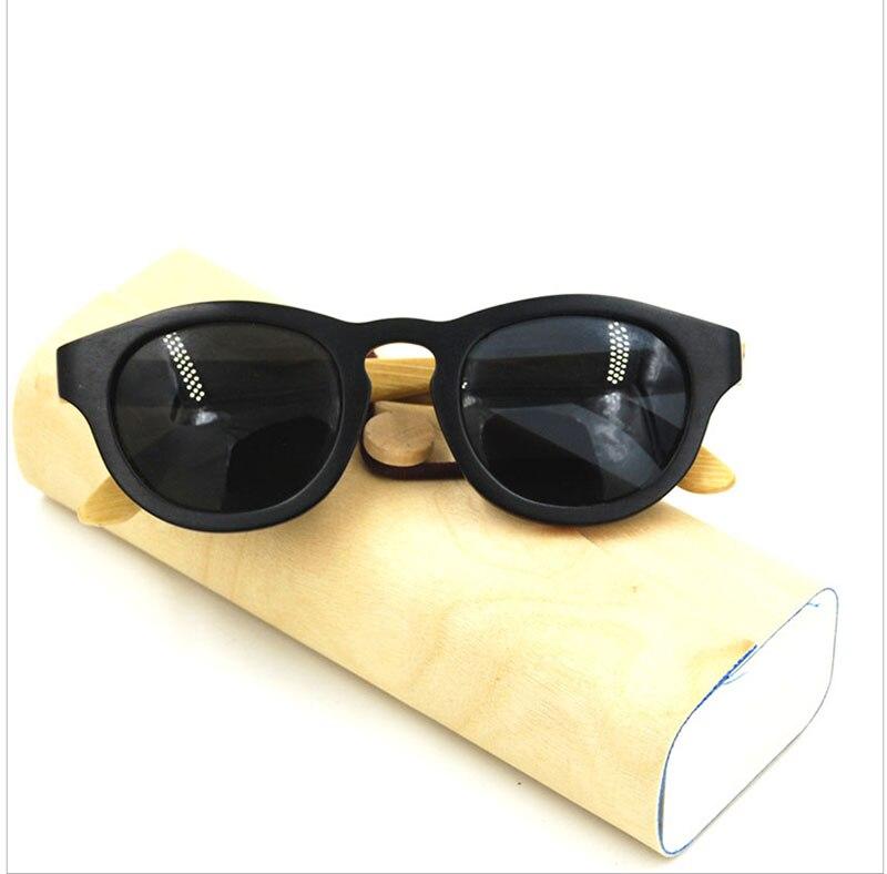 Старинные мужские ручной круглый весь рим деревянный каркас бамбука храм поляризованных вождения солнцезащитные очки