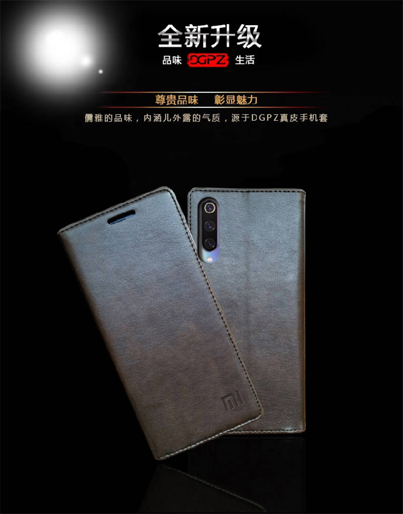 for Xiaomi Mi 9 Case Luxury Genuine Leather Flip Case for Xiaomi Mi 9 Magnetic Book Wallet Cover for Xaiomi mi9 Phone Coque Case08