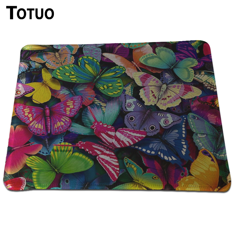 New butterfly Durable Gaming Mouse Pad Optical Computer Mouse Mat Mice Pads Rectangular Lock Edge Pads