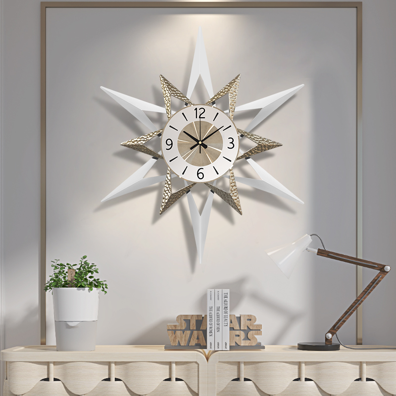 80cm Nordic Clock Mute Clock Wall Clock Modern Design Living Room Home Fashion Decorative Quartz Clock Big Clock on The Wall