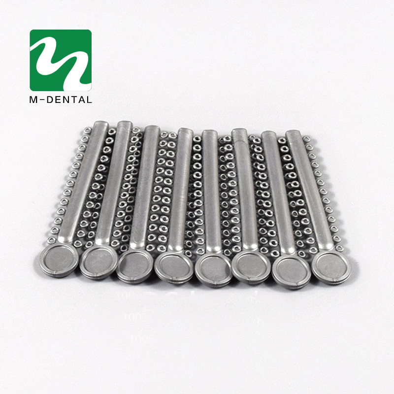40pcs/bag Gray Dental ligature Tie Orthodontics Elastomeric Ligature Ties Braces Bands F ...