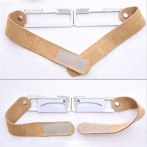 Image 4 - Microblading magnético maquiagem sobrancelha medida guia régua permanente ferramentas transporte da gota
