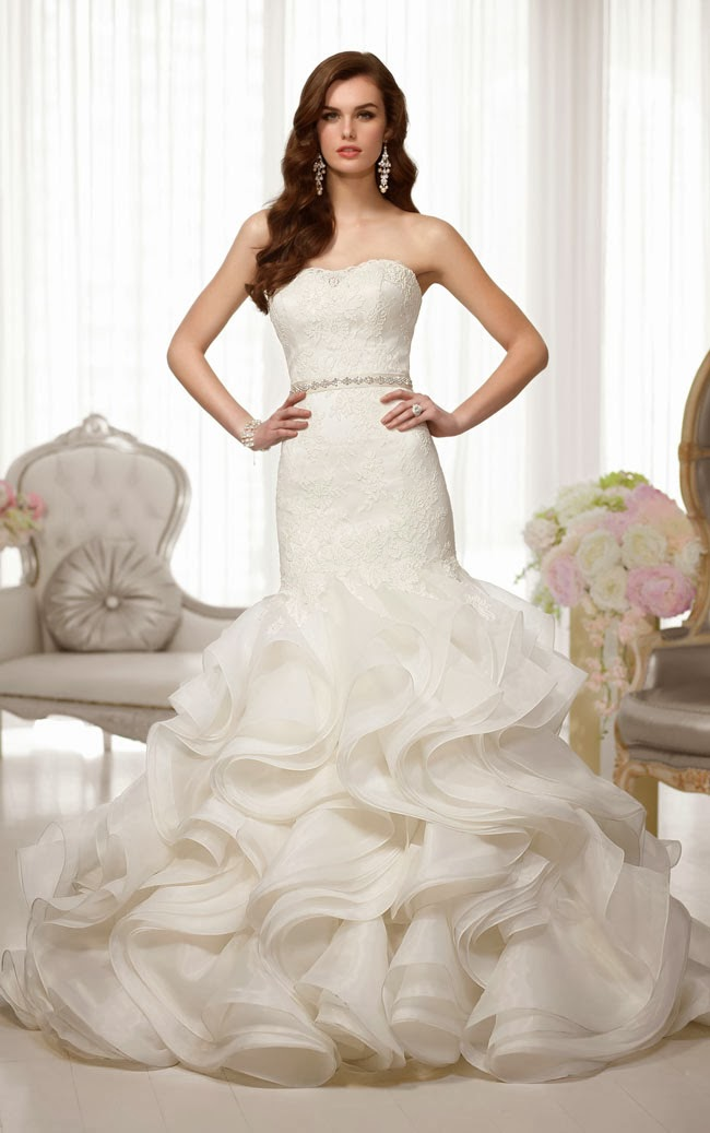 custom made tiered ruffles lace bodice pearls belt off shoulder mermaid wedding dresses 2017 bridal gowns