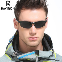 BAVIRON Al Mg Alloy Outdoor Sunglasses Men S Polaroid Lenses Glasses Original Brand Designer Flexible Cool