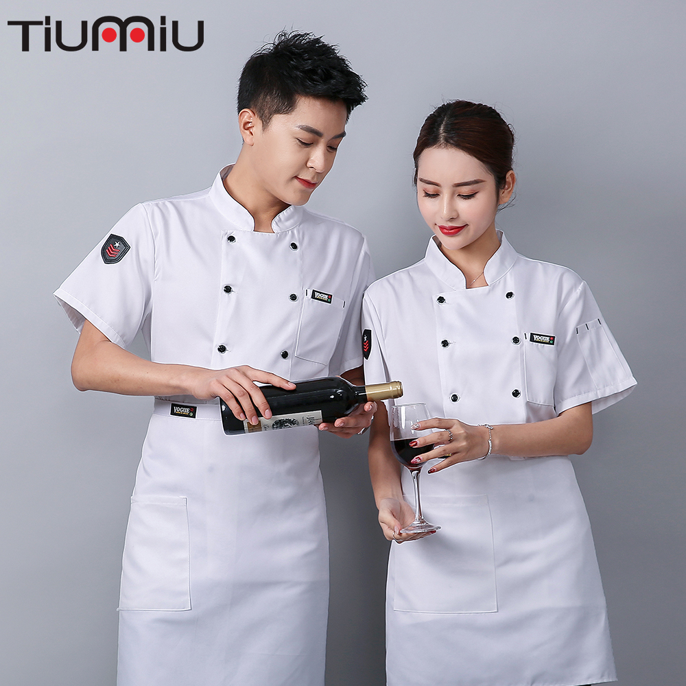Breathable Cool Chef Clothes Wholesale Restaurant Dropshopping Hot Pot Shop Waiter Special Work Clothes Hotel Teahouse Barbers