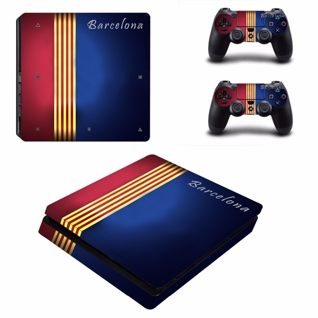 Наклейка для футбольной консоли PS4 Slim Skin, Виниловая наклейка для консоли Sony PlayStation 4 и контроллеров PS4 Slim