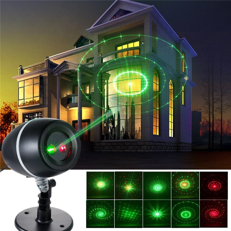 Laser Light Christmas Tree: DC5V Green And Red Waterproof IP65 Outdoor Christmas
