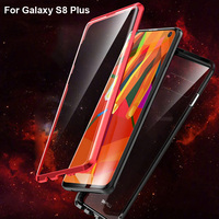 Luxury Aluminum Metal Bumper For Samsung Galaxy S8 Plus dual Tempered Glass Case Cover Column Shape Frame For Galaxy S8+ Case
