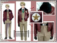 Axis Powers Hetalia Alfred F. Jones America military uniform cosplay costume any size