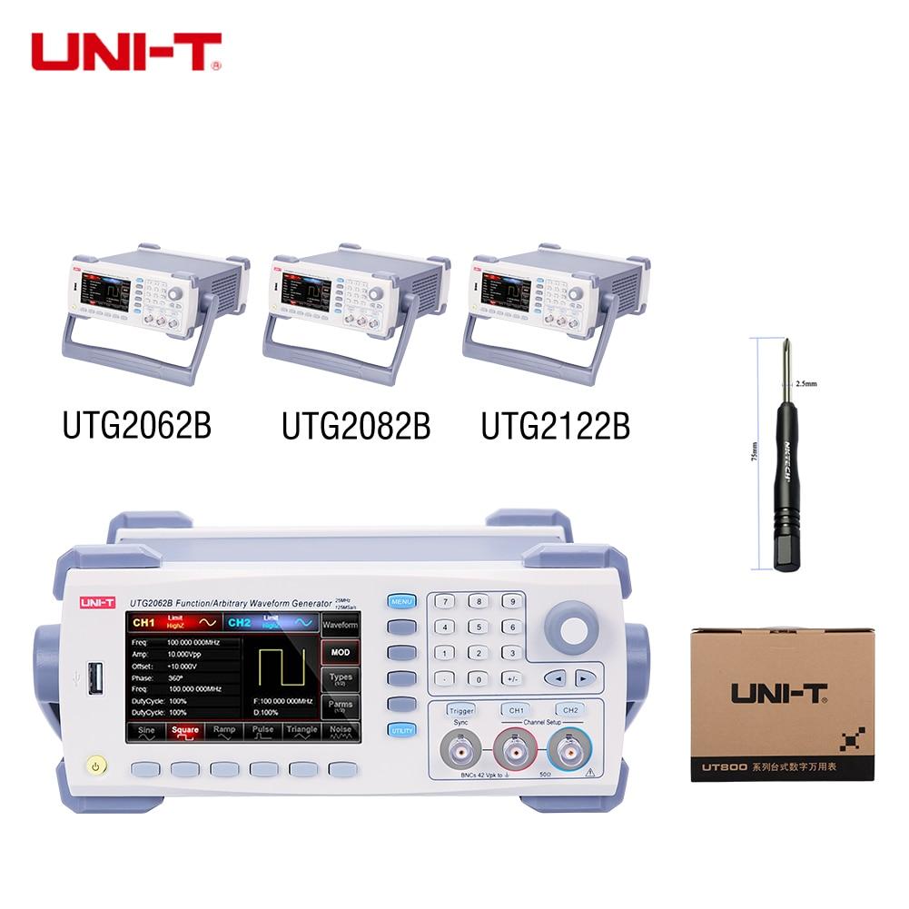 UNI-T UTG2062B UTG2082B UTG2122B fonction générateur de Signal de forme d'onde arbitraire 60/80/120 MHz bande passante 320 MS/s 1 Mpts taux d'échantillonnage