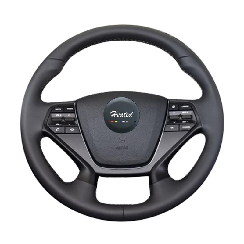 Car Steering Wheel Cover for Hyundai LF Sonata 9 2015 2016 2017 Nappa Leather Stitch car