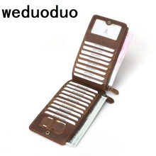 Weduoduo Genuine Leather Vintage Business ID Card High quality Credit Holder Case Slot Mens Women Purse Slim Wallet