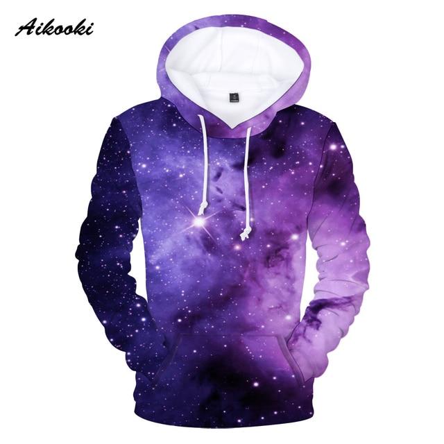 Aikooki Purple Sky Winter 3D Hoodies Sweatshirts Men   Women Hoodies 3D  Stars Print Fashion Men 8d7cccb0f