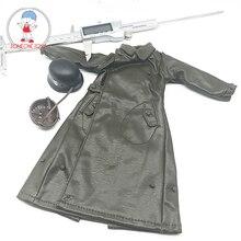 1:6 スケール兵士ロングレザーコートヘルメット服モデル 12 インチアクションフィギュア