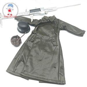 Image 1 - 1:6 スケール兵士ロングレザーコートヘルメット服モデル 12 インチアクションフィギュア