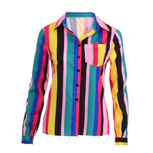 Aliexpress hot selling Europe and North America printing colour long sleeves blouse jacket