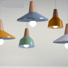 Manufacturers selling modern minimalist wooden aluminum pendant light living room single head lamp creative restaurant FG305