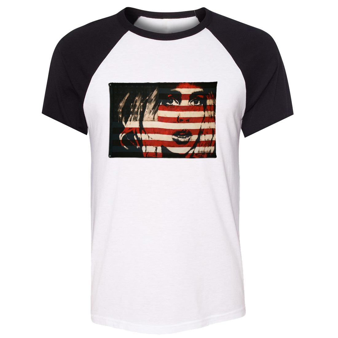Design your own t shirt made in usa - Idzn Unisex T Shirt American Flag Vintage Women Distressed Usa Flag American Patriotism Short Sleeve