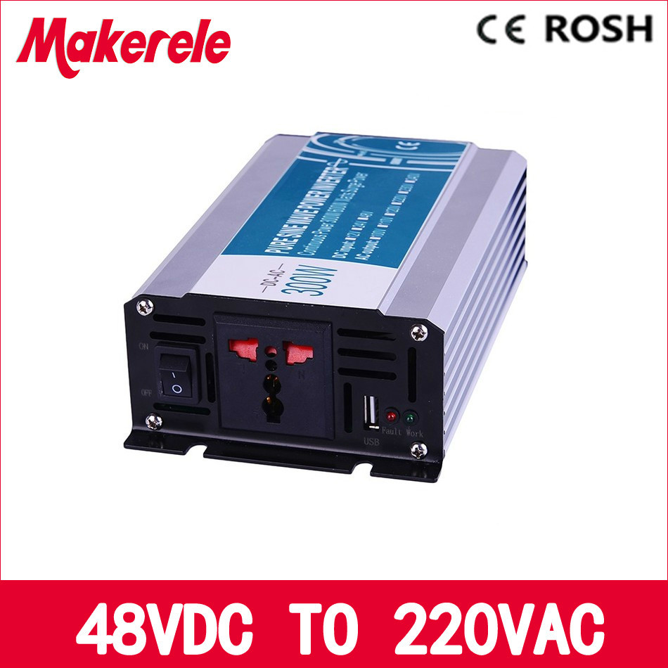 pure sine wave off grid solar inverter 300w inversor 48v to 220v voltage converter solar inverter MKP300-482 300w pure sine wave inverter 48vdc to 110vac 220vac off grid inverter 300w