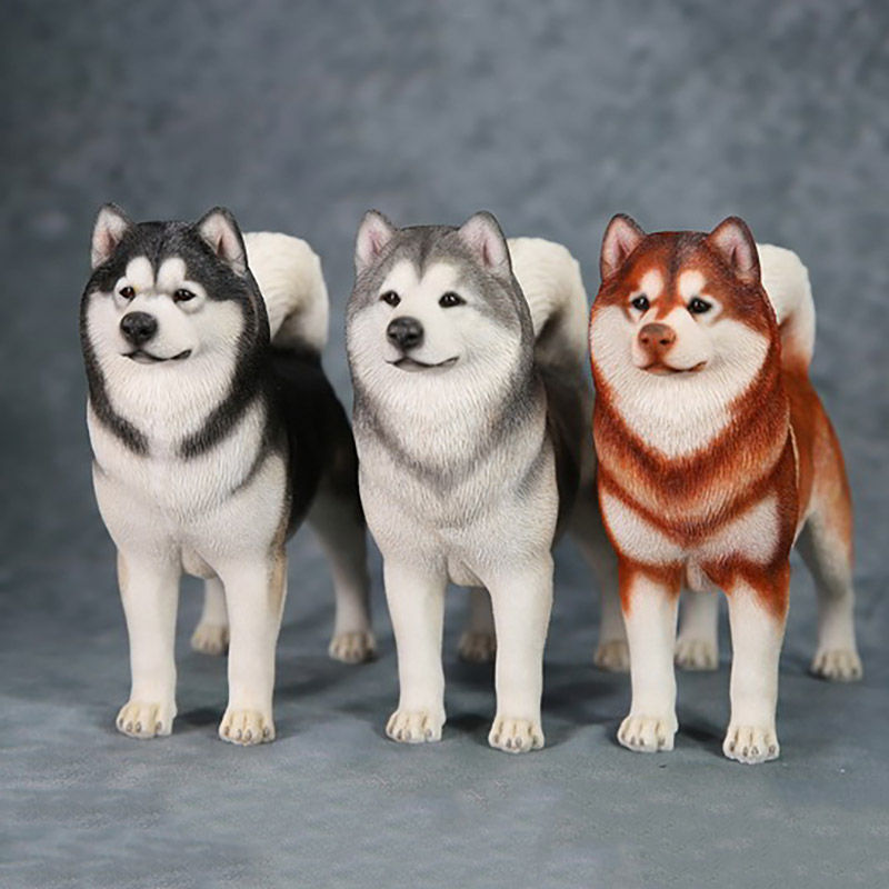 1/6 Scale Animal Model High Imitation Alaskan Malamute Pet Dog For 12' Action Figure Body Scene Accessory