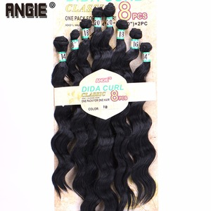 """Image 3 - 14"""" 16"""" 18"""" 20"""" Synthetic  Wavy curly Hair Weave Bundles  8pcs/Lot Synthetic Hair Extensions for women"""