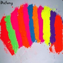Colorful  Nail Polish Pigment  Under UV light Fluorescent Dust Nail Glitter Fluorescent Powder Soap Body Paint Pigment 10g