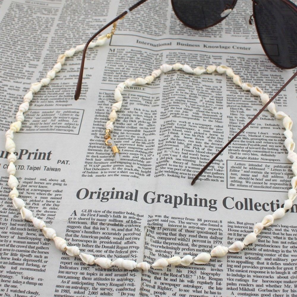 Fashion Chic Womens Eyeglass Small Conch Chains Sunglasses Reading Beaded Glasses Chain Eyewears Cord Holder Neck Strap Rope