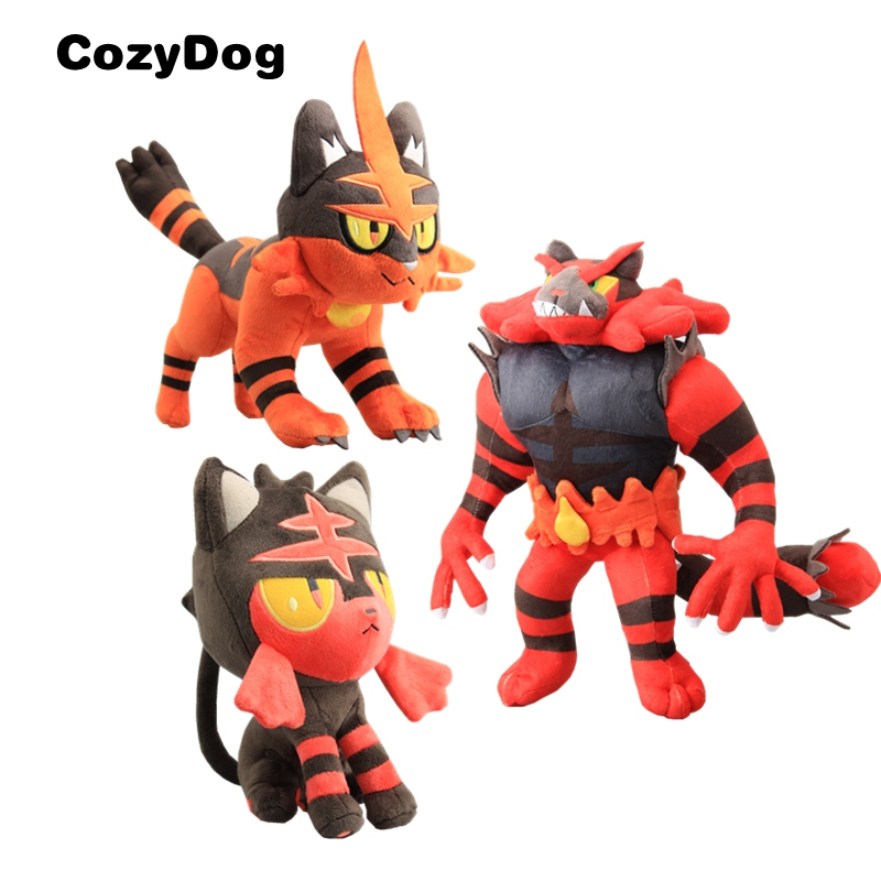 "Pokemon  Plush Doll 13/"" Incineroar Kids Animal Plush Doll Toys"