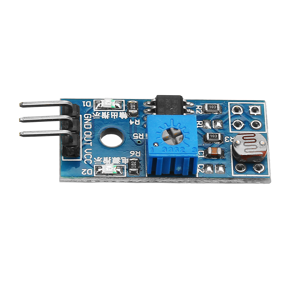 LM393 Sensitive Control 3 Pin Photosensitive Diode Light Sensor Module DC 3.3-5V