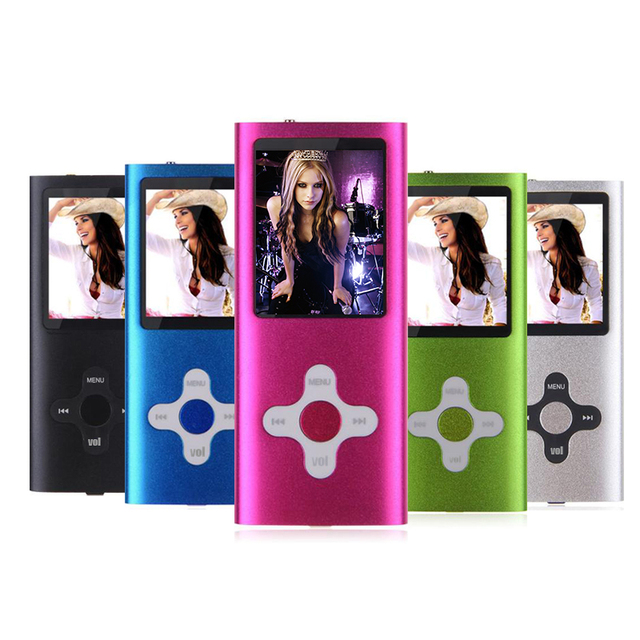 New high quality  FM Video 32GB Mini Colorful cross key MP3 MP4 Player 1.8'  LCD Screen MP3 MP4 music player