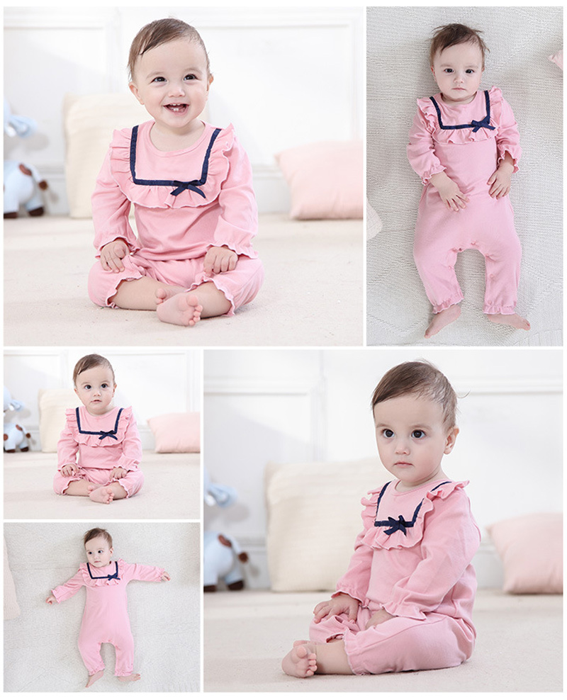 baby girl newborn clothing pink ruffles clothing beautiful rompers cotton girl toddler new born rompers