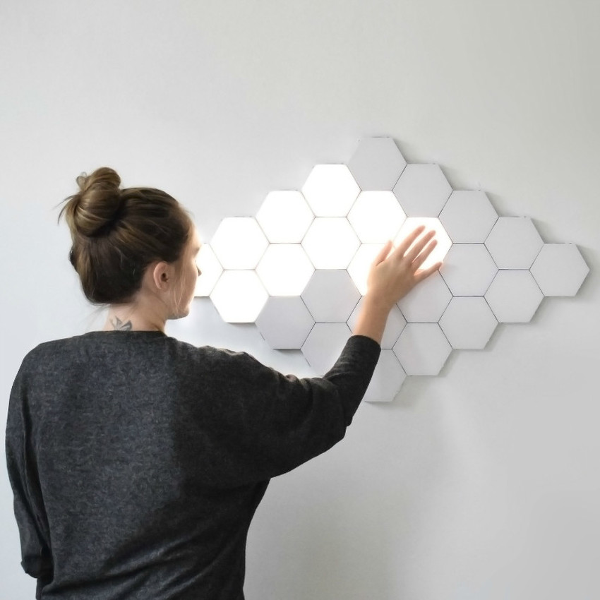 Led Quantum Lamp Hexagonal Lamps Night Lights Touch Sensitive Wall Lighting Night Light Magnetic Creative Decor Wall 3d Led Lamp