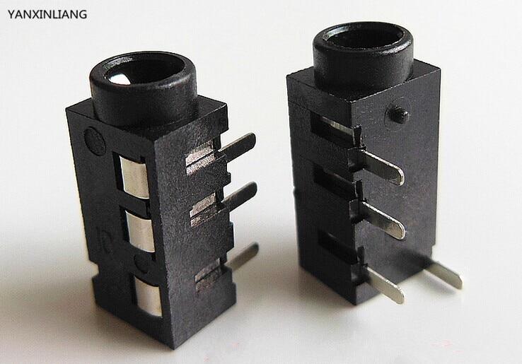 3PCS. headphone jack Audio 4 Poles PJ320A 3.5mm DIP female socket 4pin