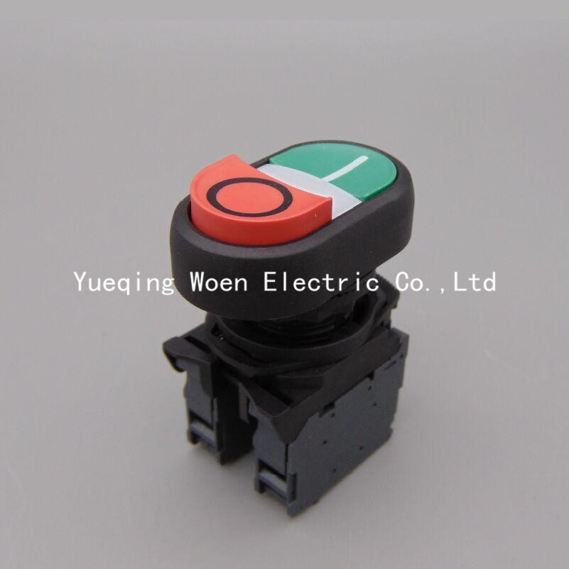 800-FS-HD Start-stop Double Pushbuttons Switch With 800 FS HD momentary button   1NO 1NC 22mm колонки автомобильные phantom fs 132 fs 132