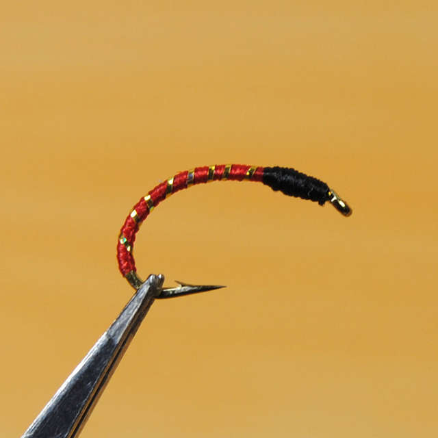 [10 PCS] #12 #10 #14 Red Black Blue Buzzer Nymph Fly for Trout Fishing /  Saltwater Sabiki Rig Making Baits / Hegene Lure Hooks