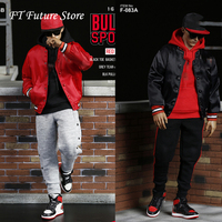 F 083A/B 1/6 Scale Man BULLS Sports Clothes Set Clothing Baseball Clothing Cap Accessories Model for 12 Male Action Figure Body