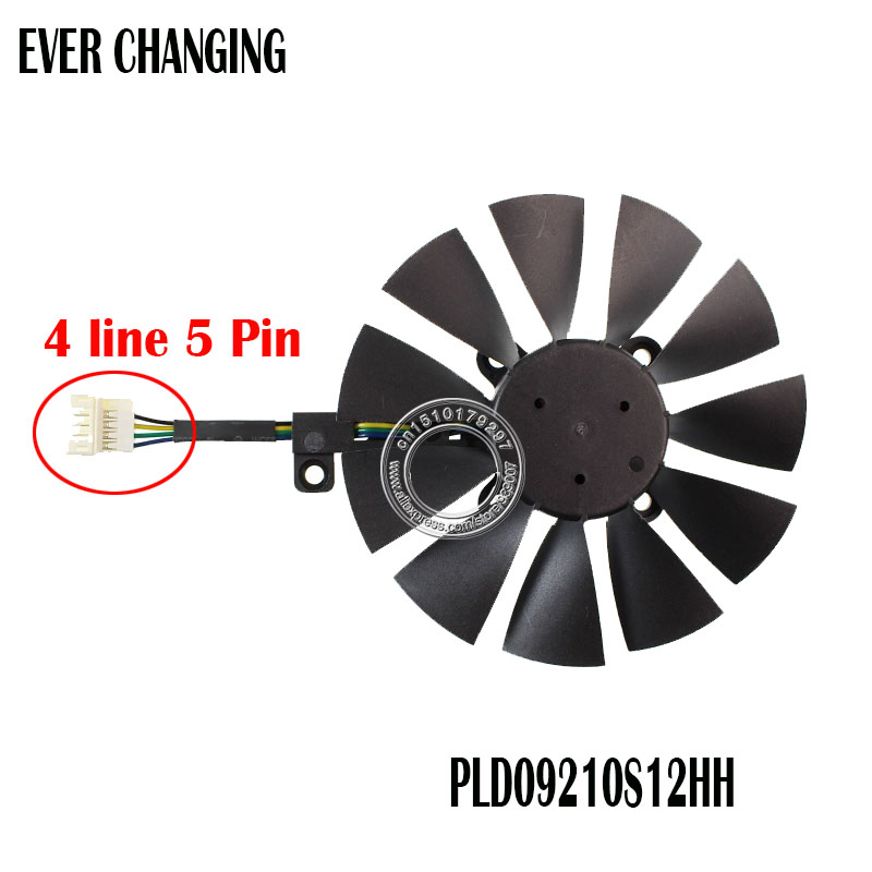 PLD09210S12HH 87MM Cooler Fan For ASUS STRIX GTX 960 970 1050 1070 RX 580 GTX980ti R9 390X 390 Graphics Card Cooling Fan image