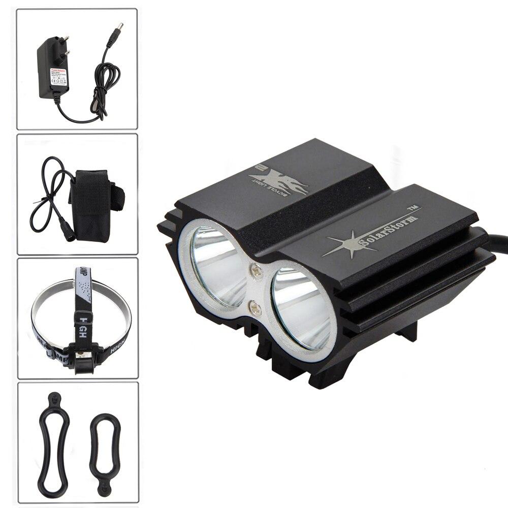7000lm Велоспорт лампы 2x xm-l T6 светодиодные велосипед спереди Велосипедный Спорт фар вспышкой света Факел + 6400 мАч Батарея pack + Зарядное устройс...