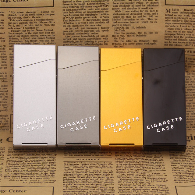 Lady Women Slim Aluminum Cigarette Case Metal Holder Box for 100u0027s King Size Hold 20 Cigarette : cigarette box size - Aboutintivar.Com