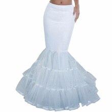 Doragrace 3 Layers Crinoline Long Underskirt for Girls One Hoop Mermaid Petticoat Wedding Dress Accessories jupon cerceau