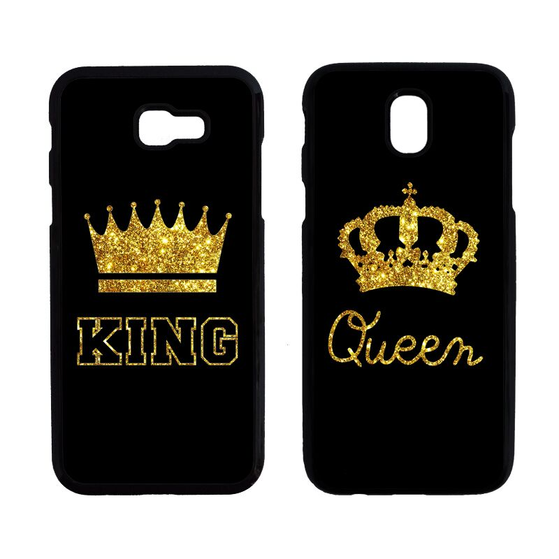King Queen Couples Case For Iphone 8 8Plus X Samsung Galaxy A3 A5 A7 A320 A520 A720 J3 J330 J5 J530 J7 J730 2017