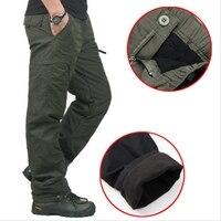 Высокое Качество Зимние теплые мужские толстые брюки двухслойные военные армейские камуфляжные тактические хлопковые брюки для мужчин бр...