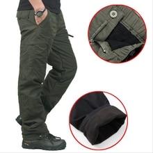 Wysokiej jakości zimowe ciepłe męskie grube spodnie dwuwarstwowe wojskowe kamuflaż wojskowy taktyczne spodnie bawełniane dla mężczyzn odzież marki