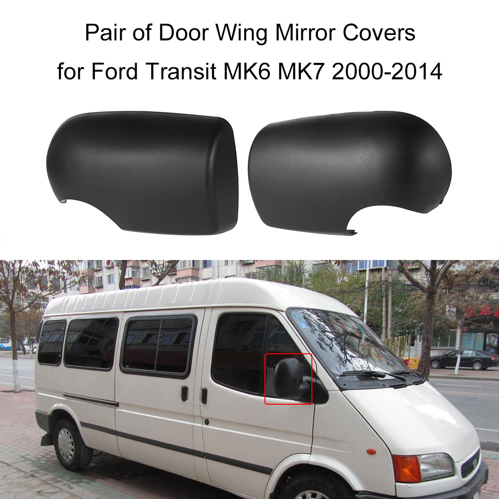 Pair of door wing mirror covers near passenger left right for ford transit mk6 mk7