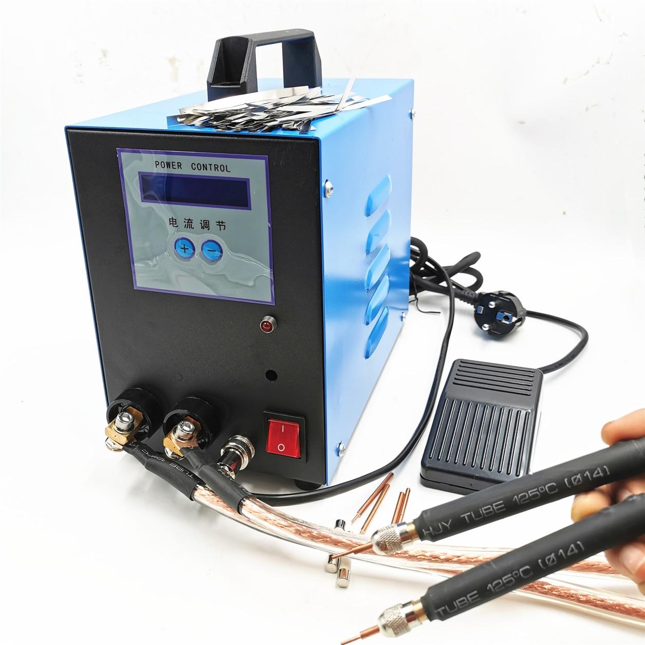 Solda a ponto 18650 soldador 10kw do ponto da bateria 110 v/220 v handheld máquina de soldadura a ponto do soldador