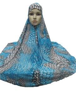 Image 4 - Hiyab islámico para mujer, hiyab musulmán grande para rezar, ropa árabe para la cabeza, hiyab, Ninja