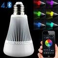 E27 lâmpada LED inteligente bluetooth lâmpada lâmpada 110 v 220 v 240 v 8 W led RGB lâmpada de luz com diodo emissor de luz spotlight lâmpada Led inteligente + controlador