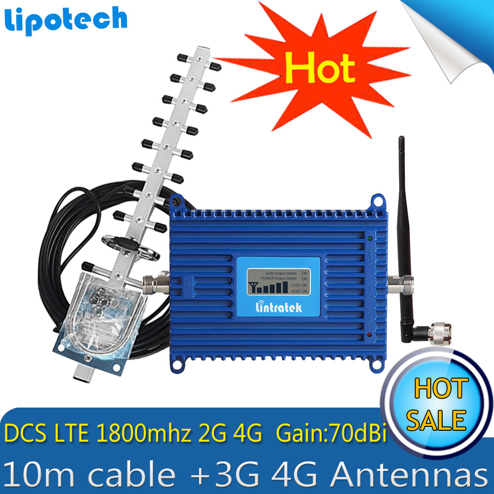 Lintratek 1800mhz 4G Repeater (Band 3) 4G LTE 1800MHz GSM 1800 Mobile Phone Signal Booster DCS 1800MHz AmplifierLintratek 1800mhz 4G Repeater (Band 3) 4G LTE 1800MHz GSM 1800 Mobile Phone Signal Booster DCS 1800MHz Amplifier