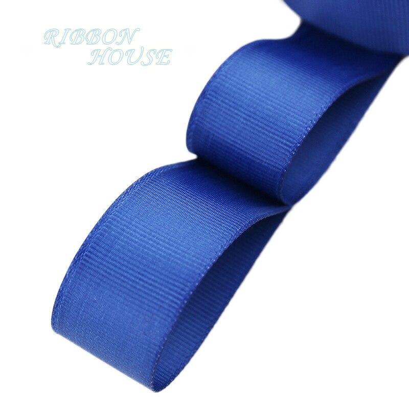 (5 м/лот) мм 1 «(25 мм) Глубокий синяя корсажная лента оптовая продажа подарок обёрточная бумага Рождество украшения ленты