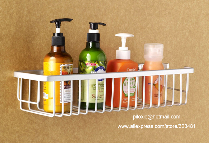 35cm Bathroom storage basket single tier space Aluminium bathroom basket  shelf for shampoo shower gel shelf. 35cm Bathroom storage basket single tier space Aluminium bathroom